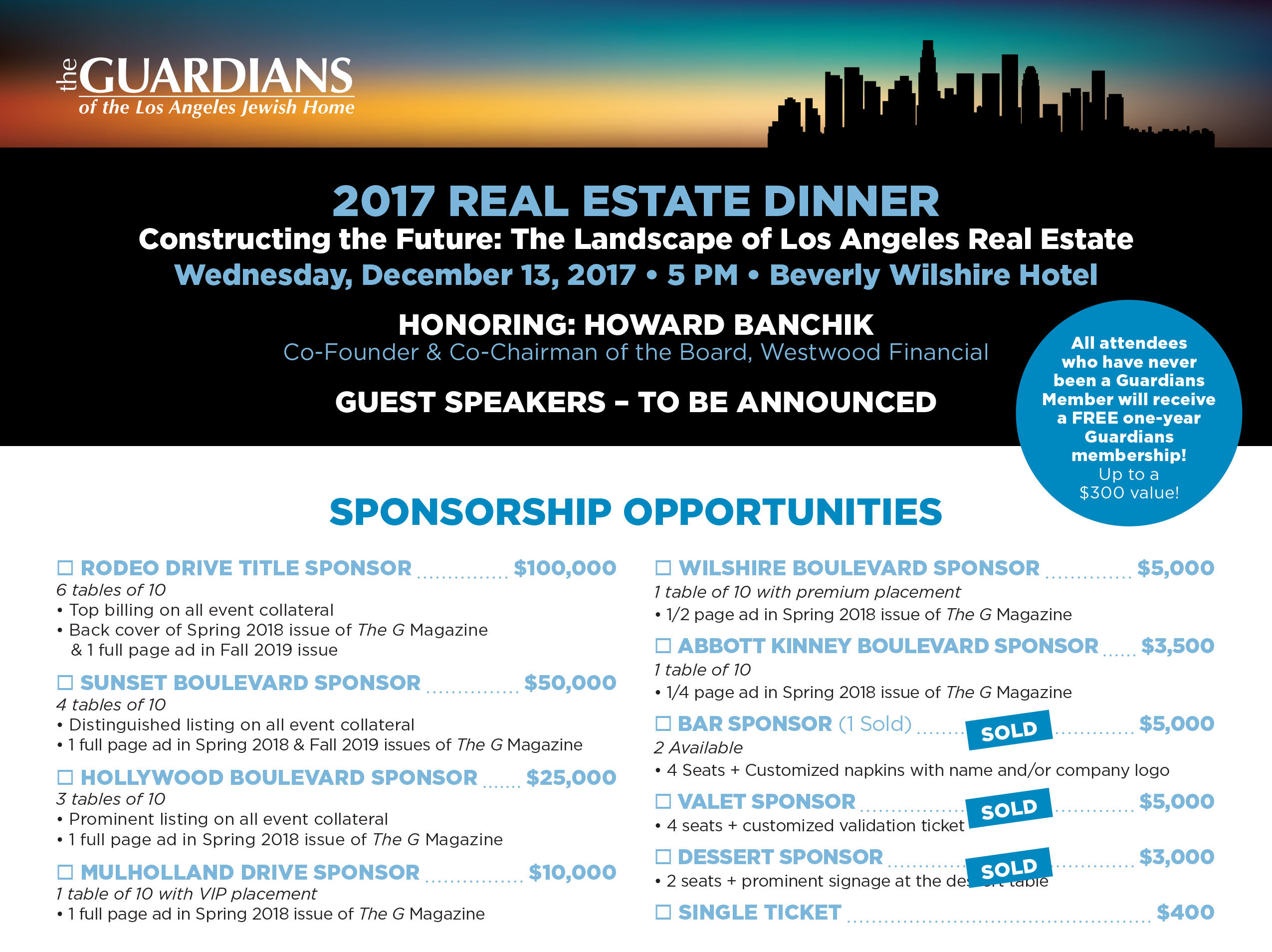 The Guardians 2017 Real Estate Dinner