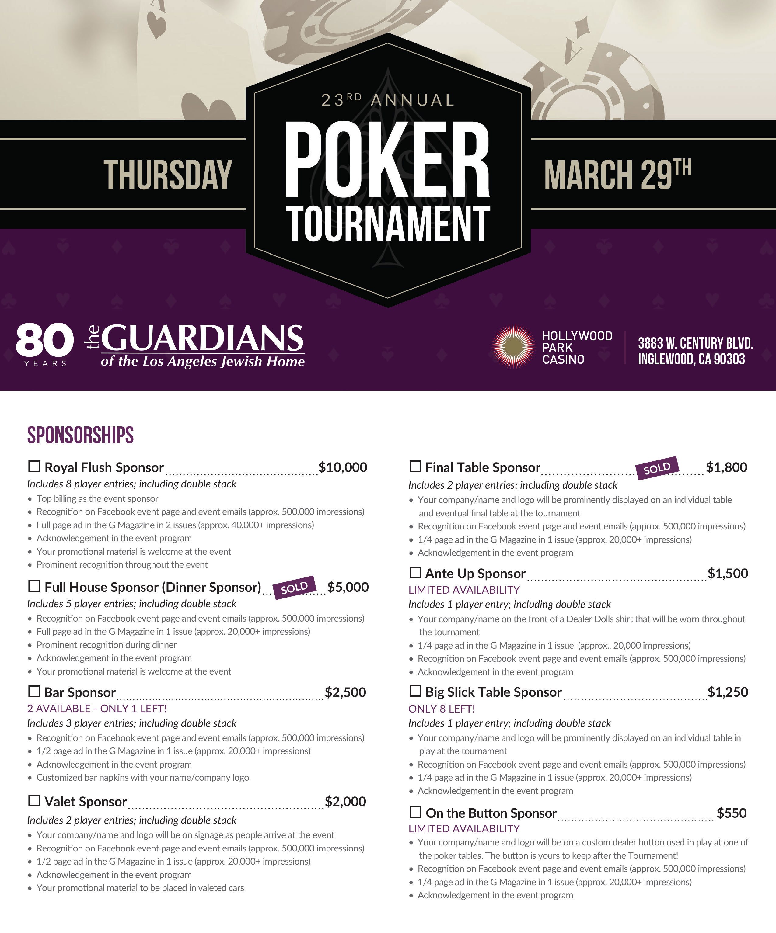 Annual Poker Tournament