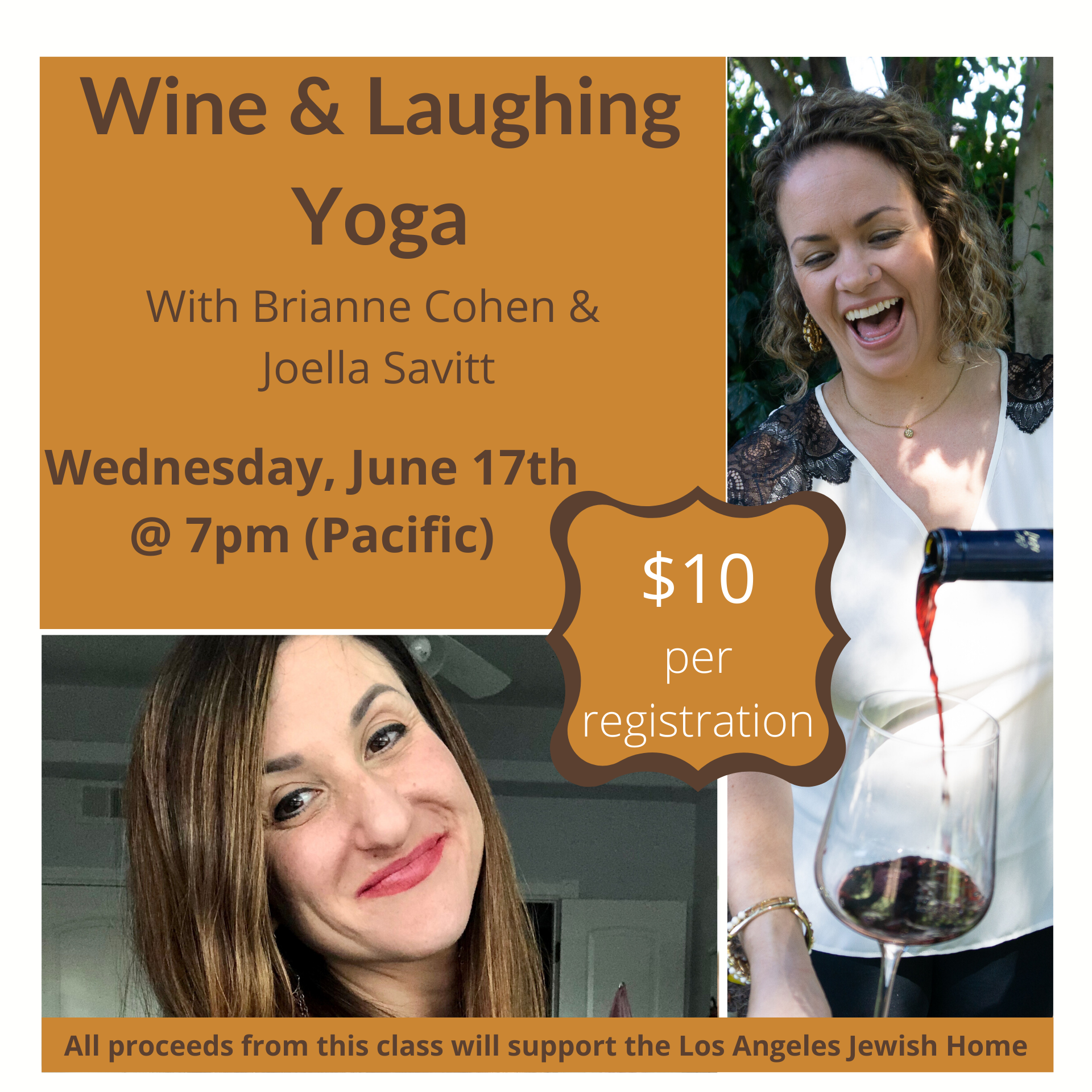 Wine and Laughing Yoga